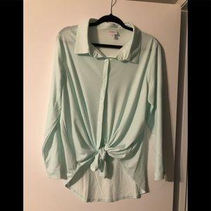 LuLaRoe Valentina button up shirt